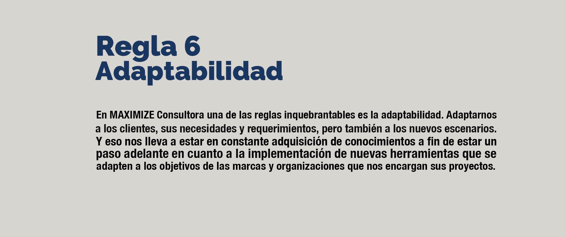 regla6 adaptabilidad